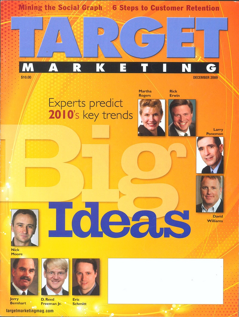 Bernhart Associates on the cover of Target Marketing - 2008 and 2010